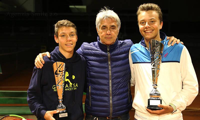 Giulio Perego e Benito Massacri con Carlo Faccini