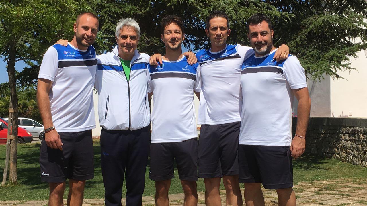 La squadra di serie D1 del CT Brindisi in trasferta ad Ostuni