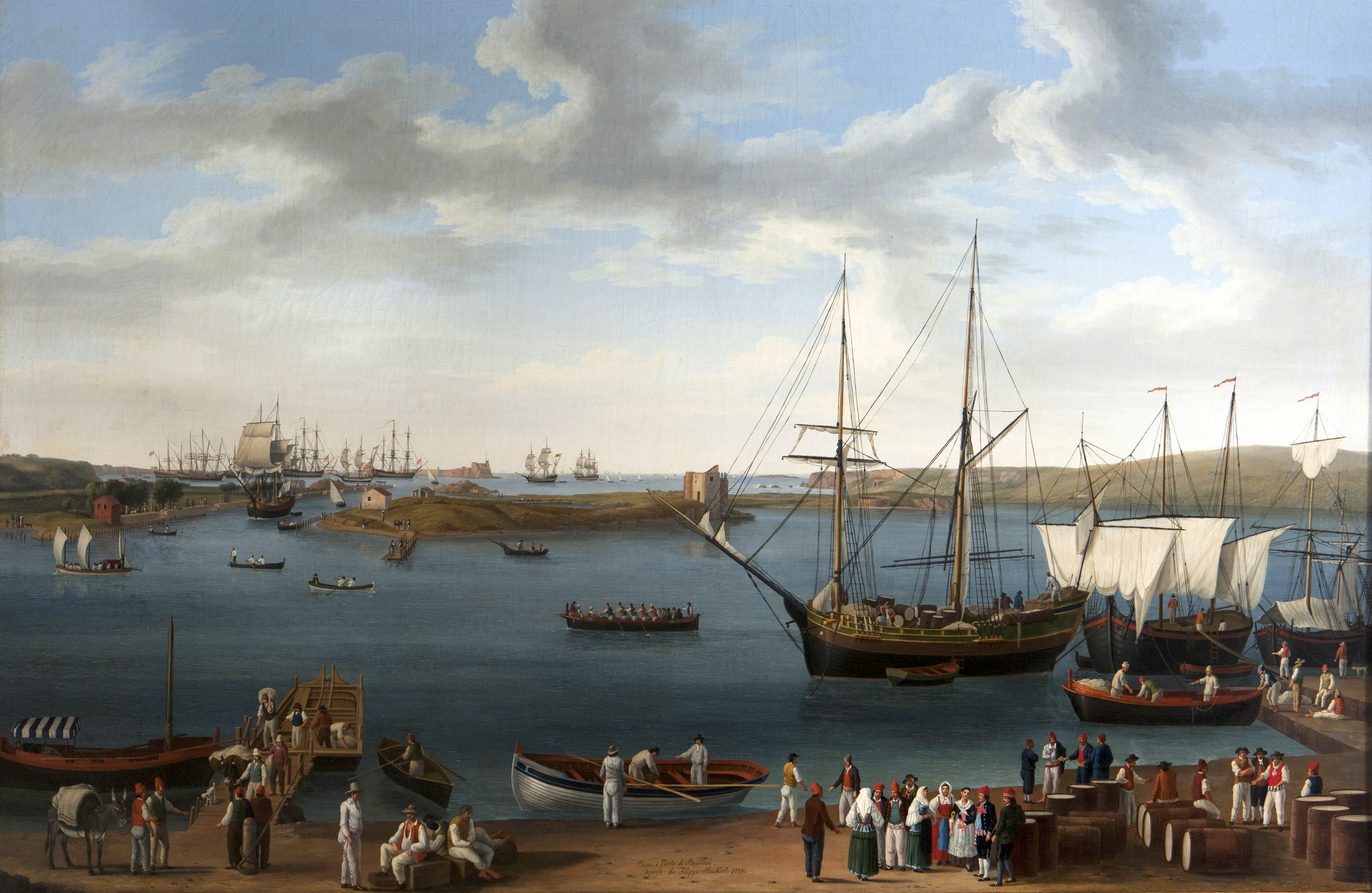 Il porto di Brindisi nel '700