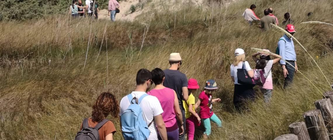 I visitatori al Parco delle Dune Costiere